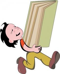 Boy with Big Book